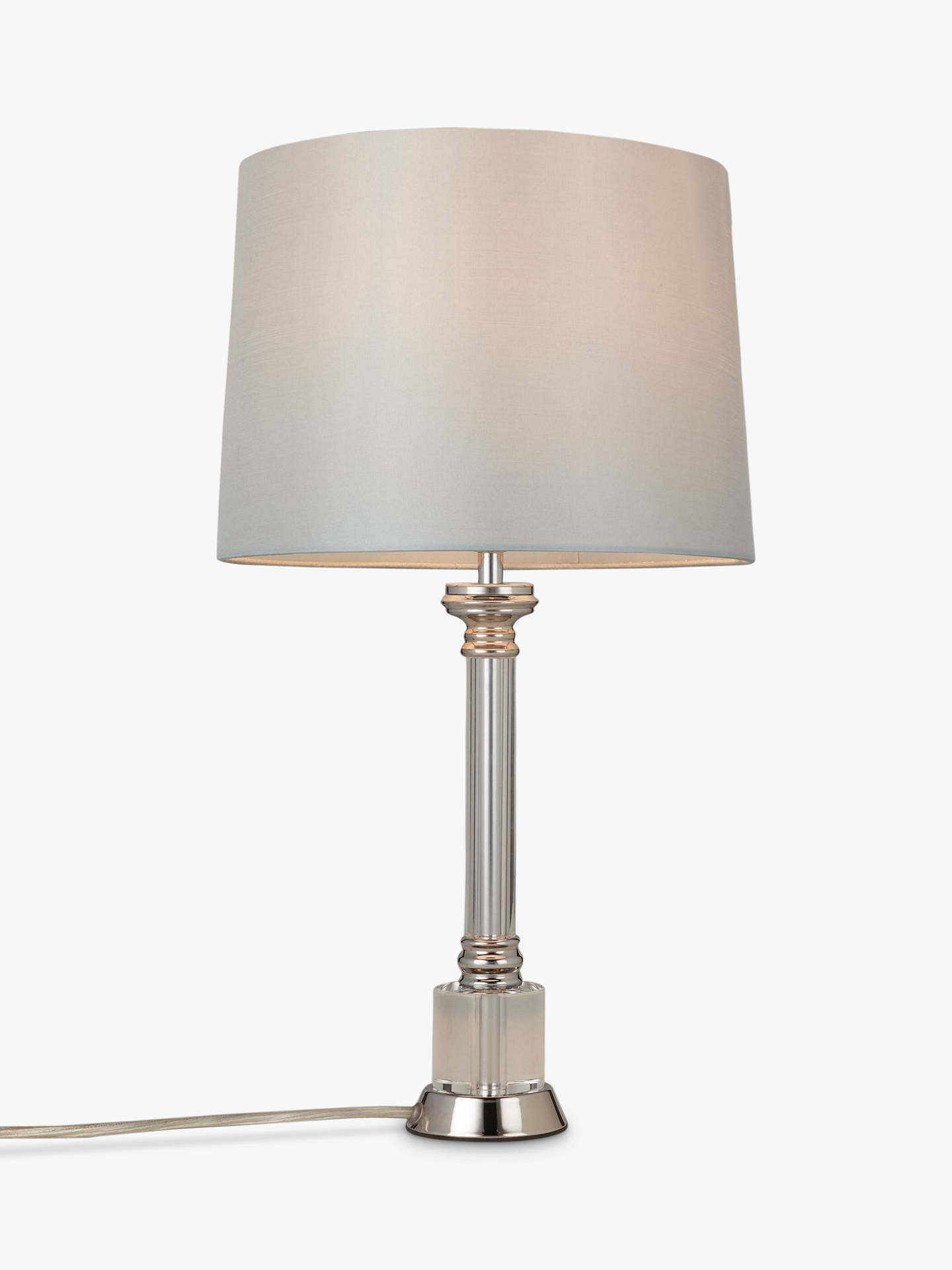 John Lewis Clayton Base With Gemma Shade Table Lamp Grey Duck Egg