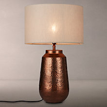 Buy John Lewis Rohan Base with Samantha Shade Table Lamp, Copper / Natural Online at johnlewis.com