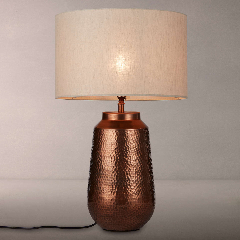 John lewis rohan base with samantha shade table lamp copper buyjohn lewis rohan base with samantha shade table lamp copper natural online at johnlewis mozeypictures Images