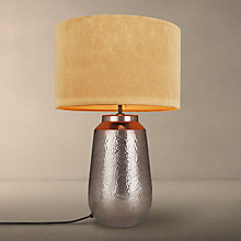 Buy John Lewis Rohan Base with Jenny Shade Table Lamp, Copper / Amber Online at johnlewis.com
