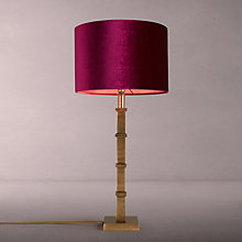 Buy John Lewis Jude Base with Jenny Shade Table Lamp, Brass / Mulberry Online at johnlewis.com