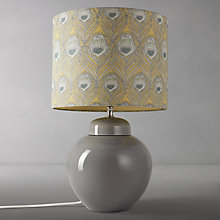 Buy John Lewis Prudence Base with Liberty Caesar Shade Table Lamp, Grey / Chinois Online at johnlewis.com