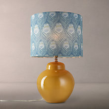Buy John Lewis Prudence Base with Liberty Caesar Shade Table Lamp, Sulphur / Blue Online at johnlewis.com