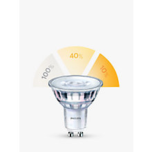 Buy Philips SceneSwitch 5W GU10 LED 3 Step Bulb, Clear, Dimmable Online at johnlewis.com