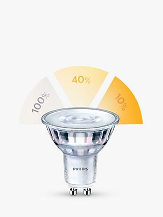 Philips SceneSwitch 5W GU10 LED 3 Step Bulb, Clear