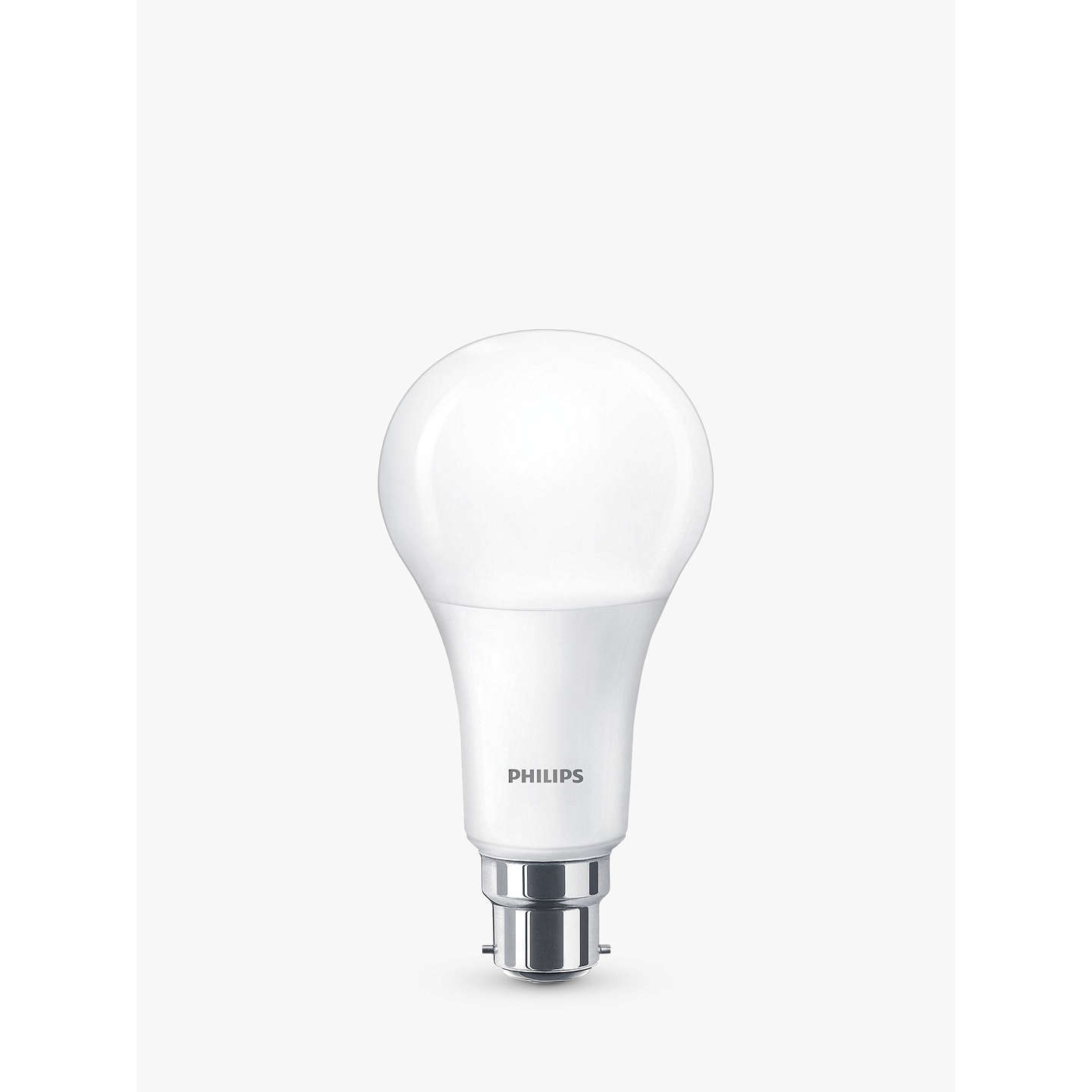 Philips 13.5W BC LED Bulb, Warm Glow, Dimmable at John Lewis