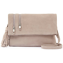 Buy Mint Velvet Ellie Tassel Cross Body Bag, Mink Online at johnlewis.com