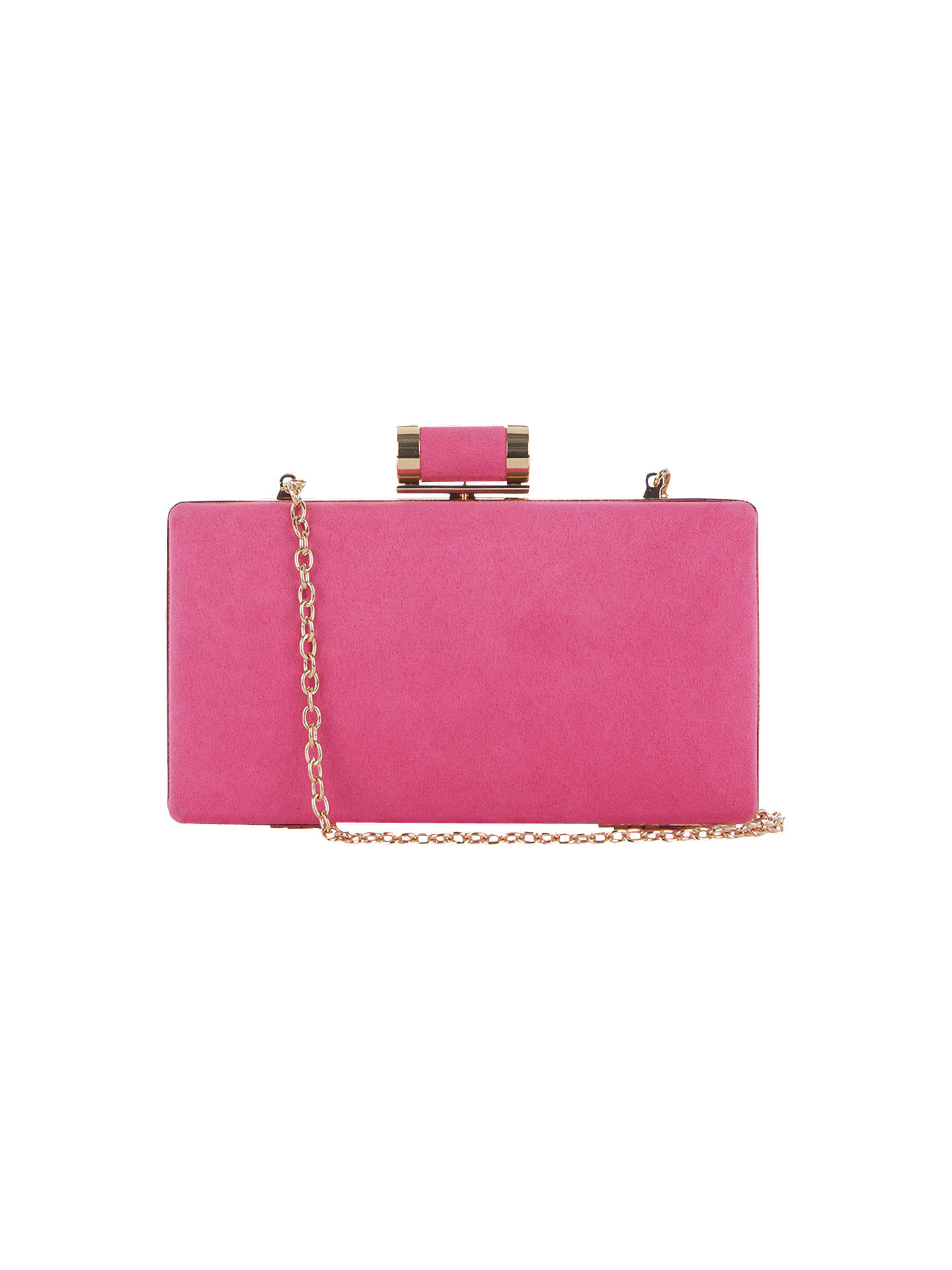 1260bba1513f Buy Oasis Holly Box Clutch, Mid Pink Online at johnlewis.com ...