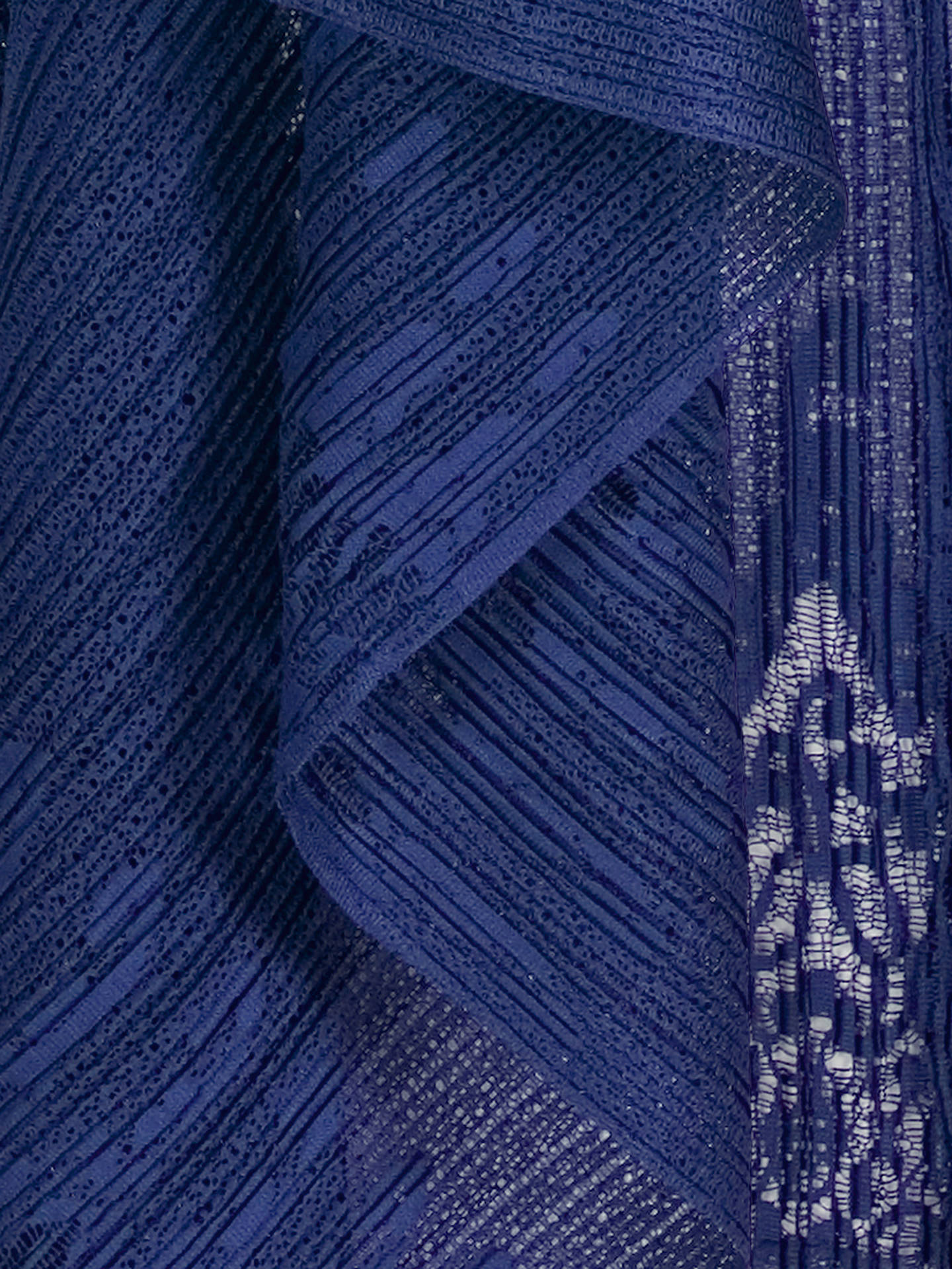 BuyChesca Border Lace Crush Pleat Waterfall Shrug, Royal Blue Online at johnlewis.com