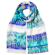 Buy East Abstract Stripe Silk Scarf, Multi Online at johnlewis.com