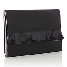 Buy Oasis Ruffle Clutch Bag, Black Online at johnlewis.com