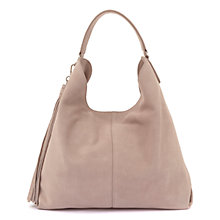 Buy Mint Velvet Devon Leather Stud Tassel Shoulder Bag, Mink Online at johnlewis.com