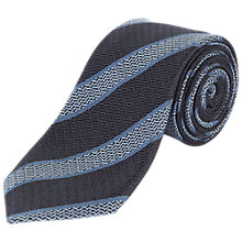 Buy Jaeger Silk College Stripe Tie, Navy Online at johnlewis.com