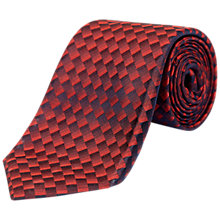 Buy Jaeger Silk Gradient Geometric Tie, Red Online at johnlewis.com