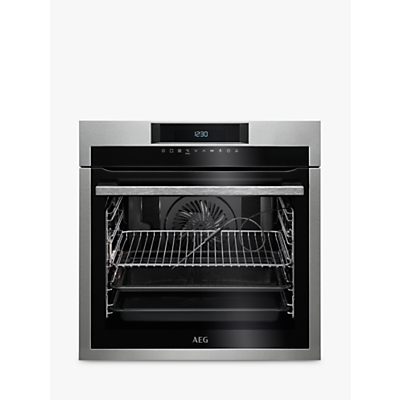 AEG BPE642020M Built-In Single Oven, Stainless Steel