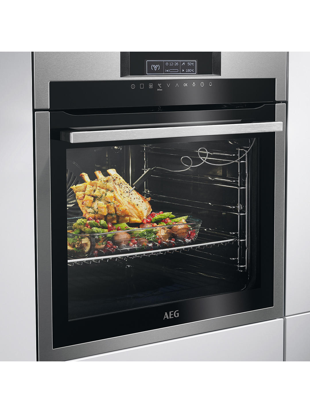 Buy AEG BPE642020M Built-In Single Oven, Stainless Steel Online at johnlewis.com