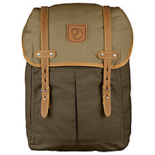 Buy Fjallraven Rucksack No.21 Medium Backpack, Khaki/Sand Online at johnlewis.com