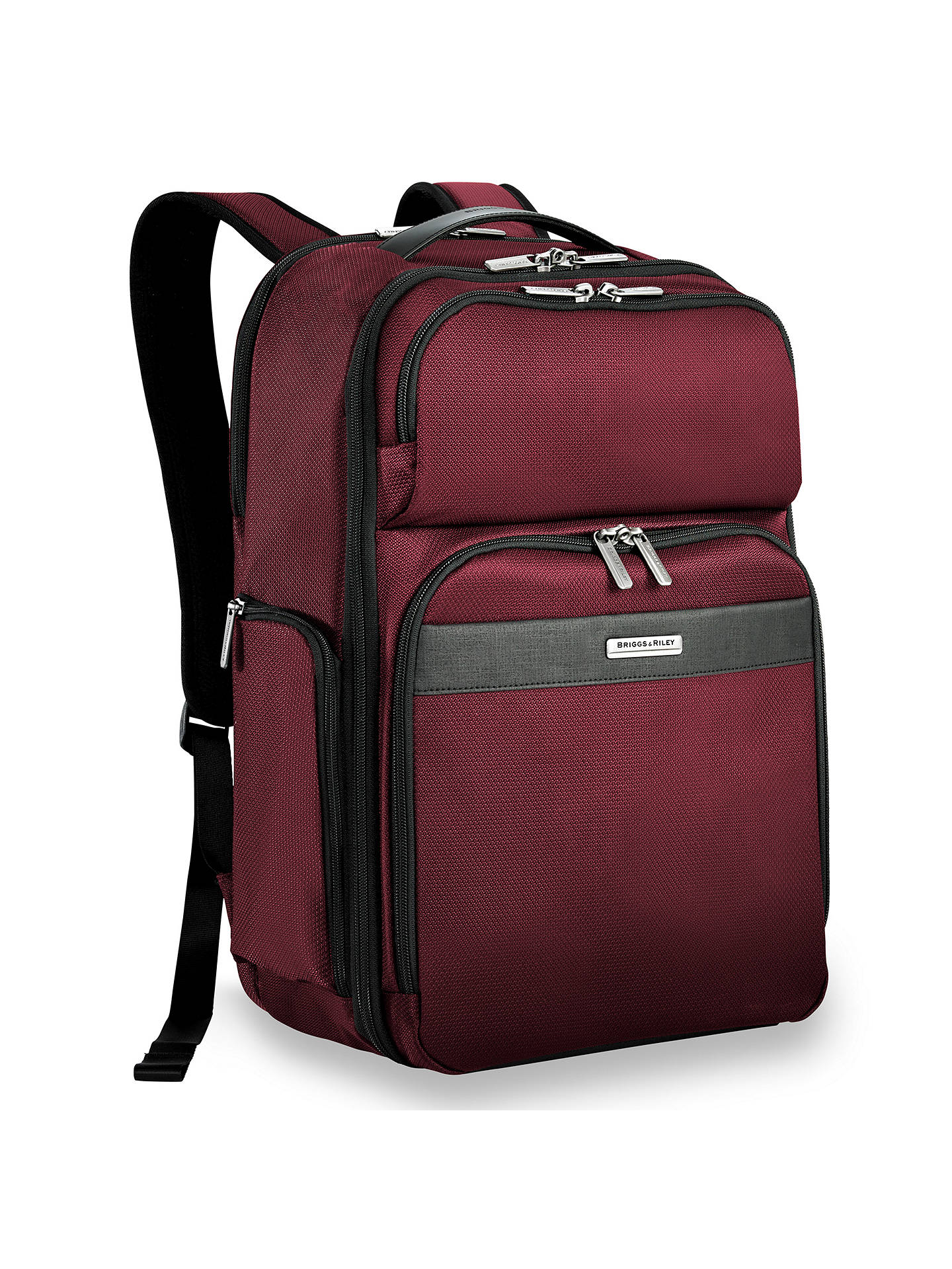 5a78bc21854 BuyBriggs   Riley Transcend Backpack, Merlot Online at johnlewis. ...