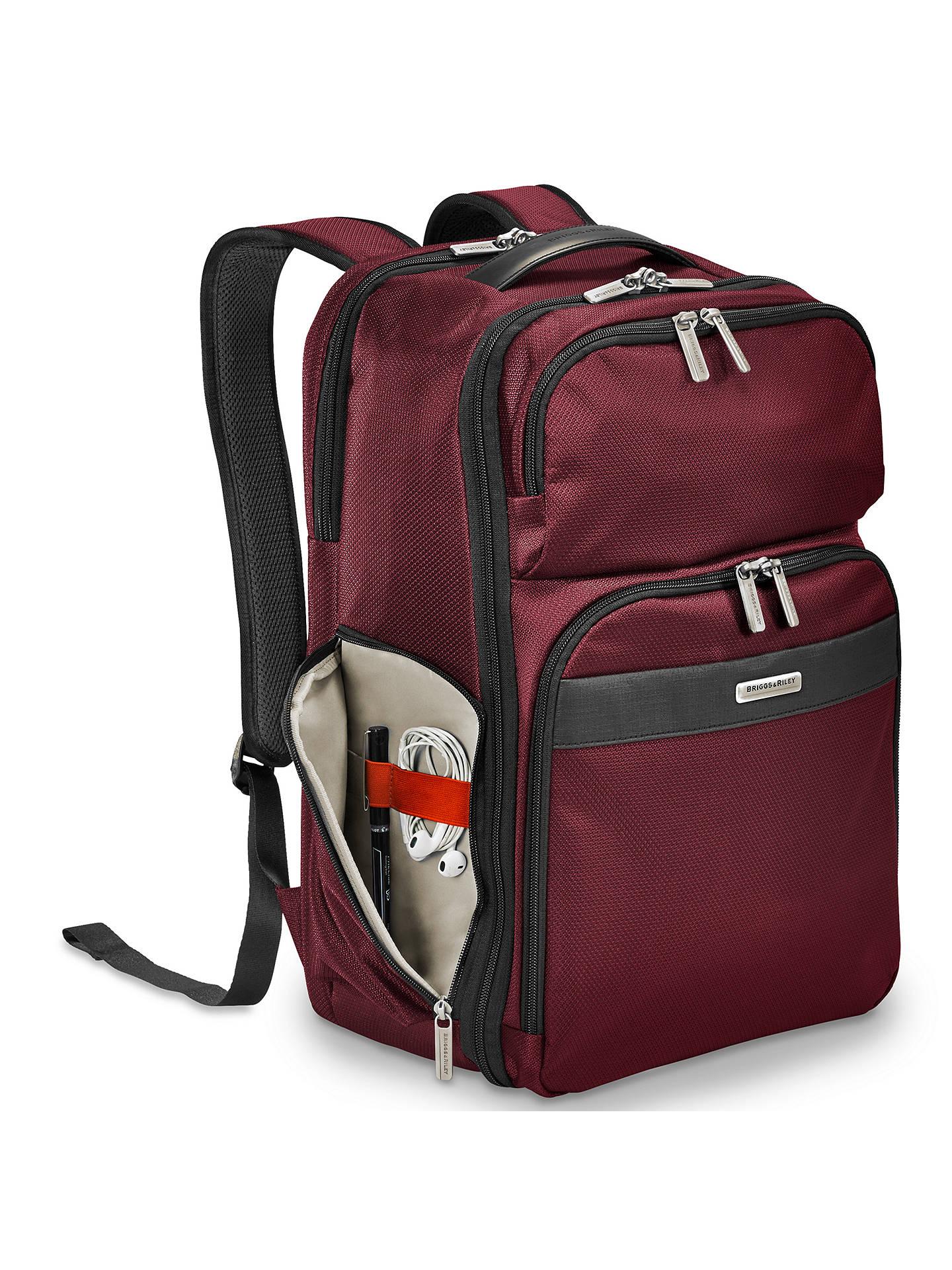 c59fc2dbbdd ... BuyBriggs   Riley Transcend Backpack, Merlot Online at johnlewis.com