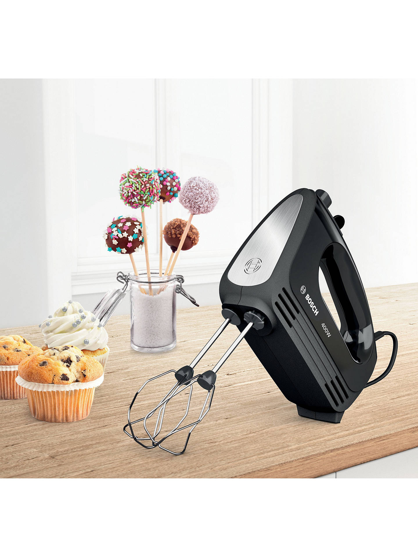 Buy Bosch MFQ2420BGB CleverMixx Hand Mixer, Black Online at johnlewis.com