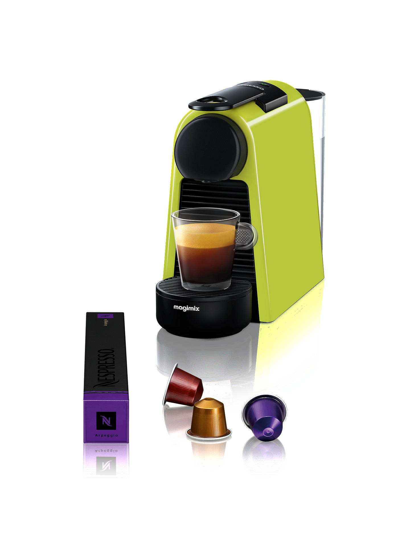 Buy Nespresso Essenza Mini Coffee Machine by Magimix, Lime Online at johnlewis.com