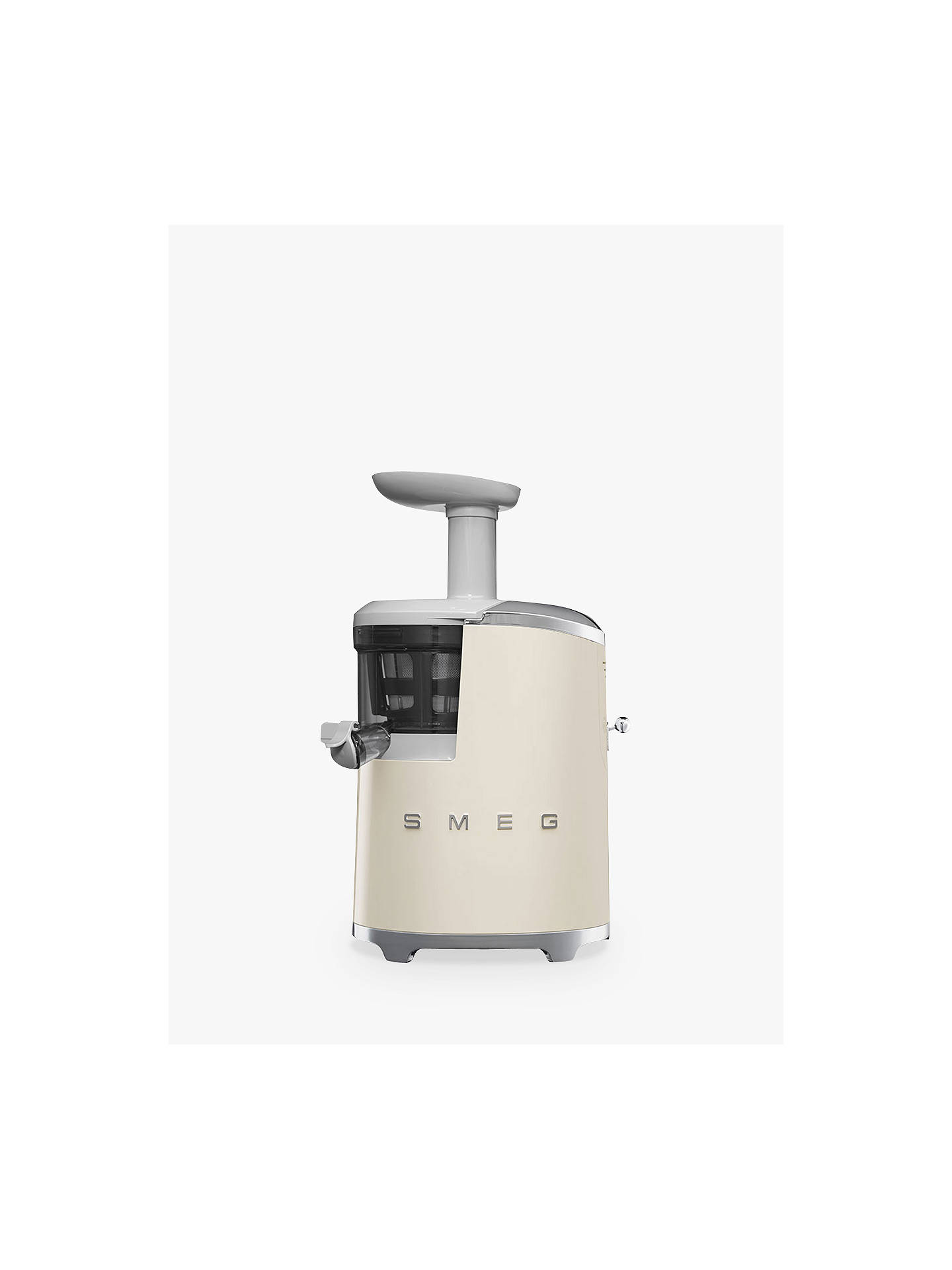 Buy Smeg SJF01CRUK Retro Style Cold Press Juicer, Cream Online at johnlewis.com