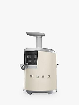 Smeg SJF01CRUK Retro Style Slow Juicer, Cream