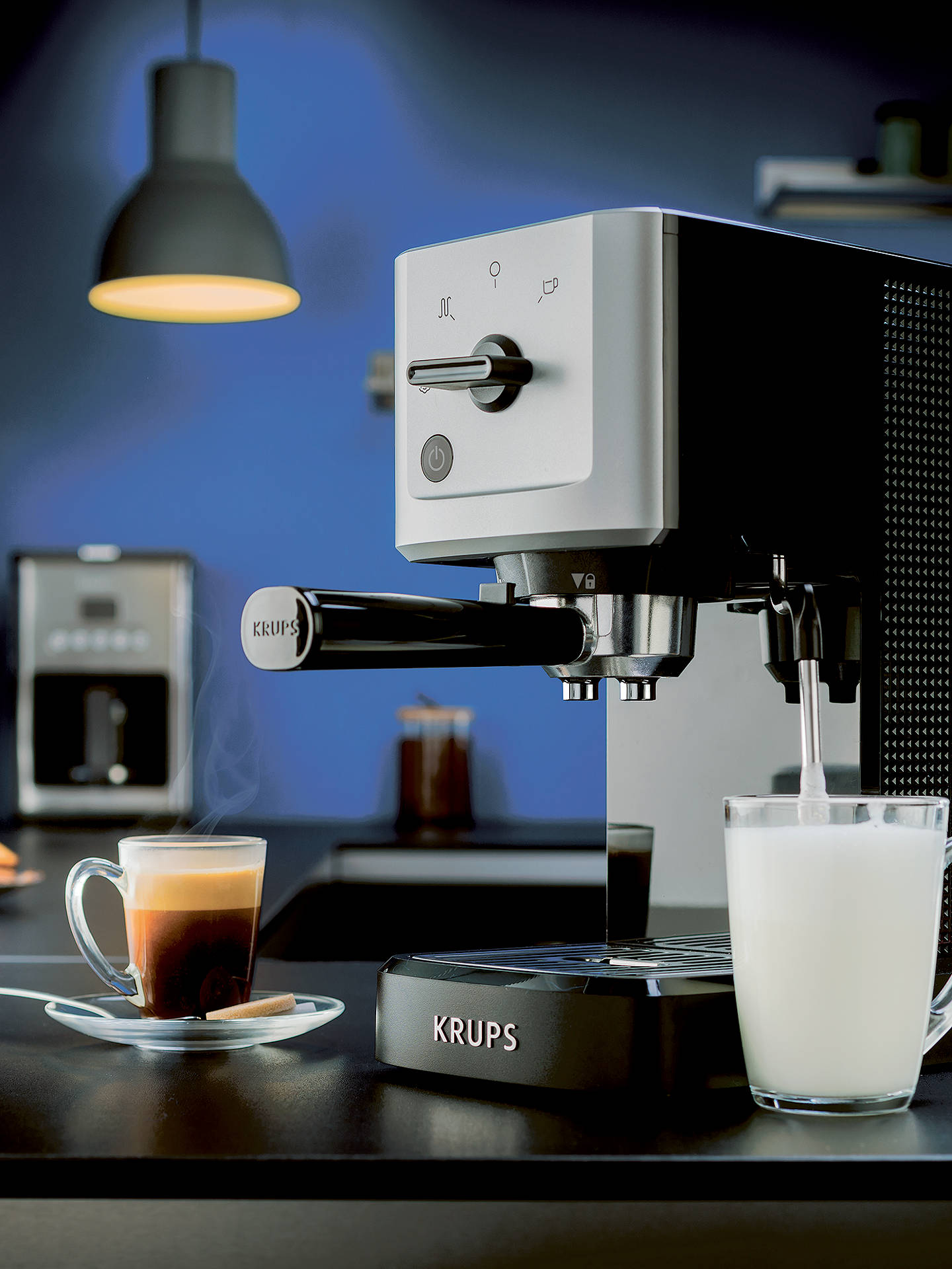 Buy Krups XP344040 Calvi Manual Espresso Machine, Black Online at johnlewis.com