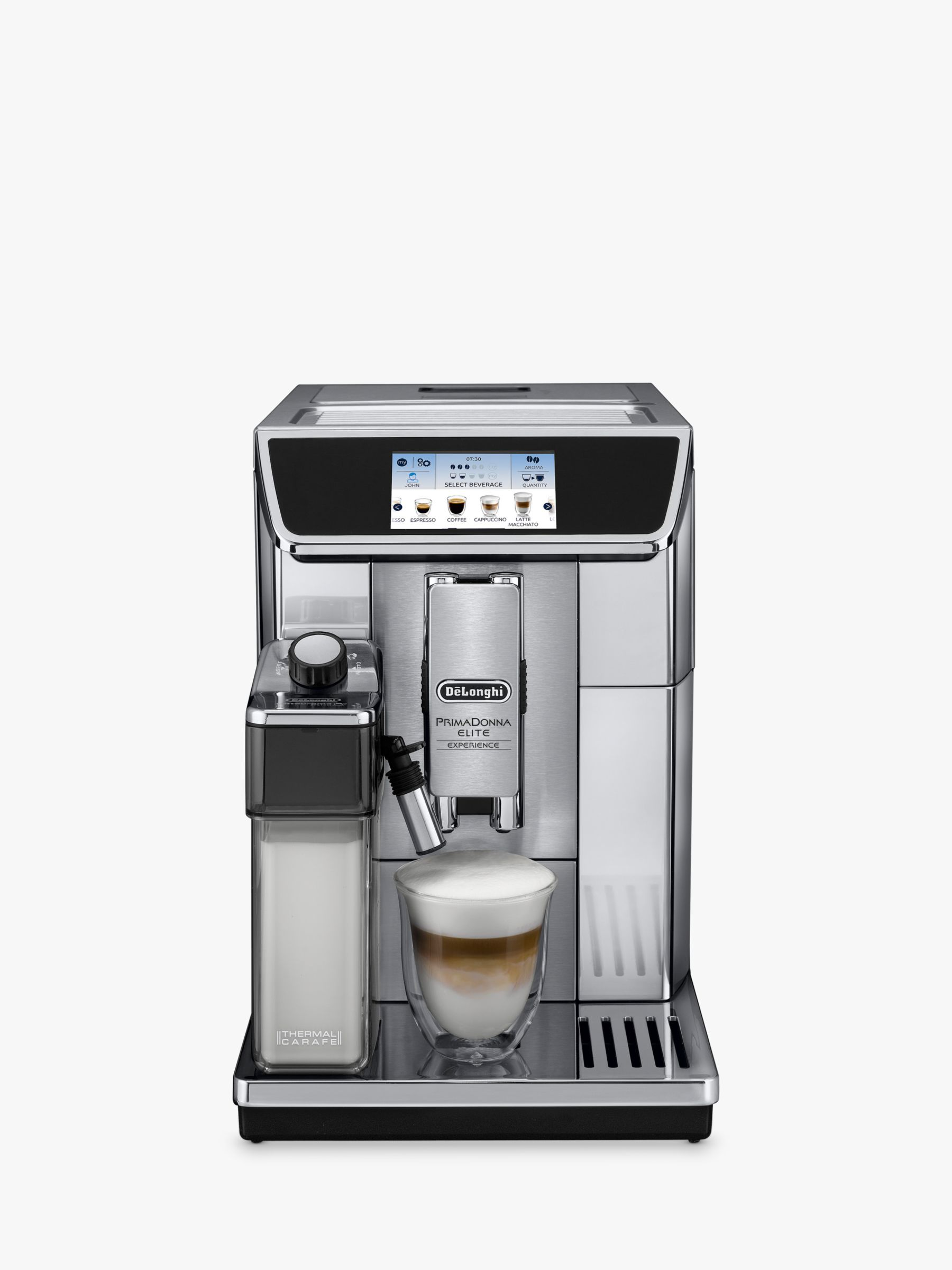 Buy De'Longhi ECAM650.85.MS PrimaDonna Elite Experience Bean-to-Cup Coffee Machine Online at johnlewis.com