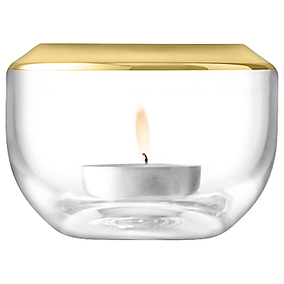 LSA International Space Tealight Holder, Gold, 6.5cm