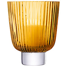 Buy LSA International Pleat Storm Lantern, Amber Online at johnlewis.com