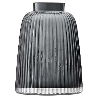 LSA International Pleat Vase, Grey, H26cm