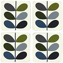 Buy Orla Kiely Multi Stem Coasters, Set of 4, Khaki/Multi Online at johnlewis.com