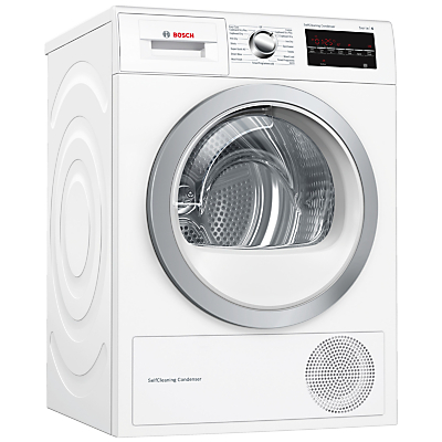 Image of Bosch WTW85492GB Condenser Tumble Dryer with Heat Pump, 8kg Load, A++ Energy Rating, White