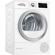 Buy Bosch WTW87660GB Condenser Tumble Dryer with Heat Pump, 8kg Load, A+++ Energy Rating, White Online at johnlewis.com