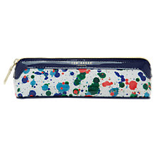 Buy Ted Baker Colour By Numbers Poni Paint Splash Pencil Case, Ivory Online at johnlewis.com
