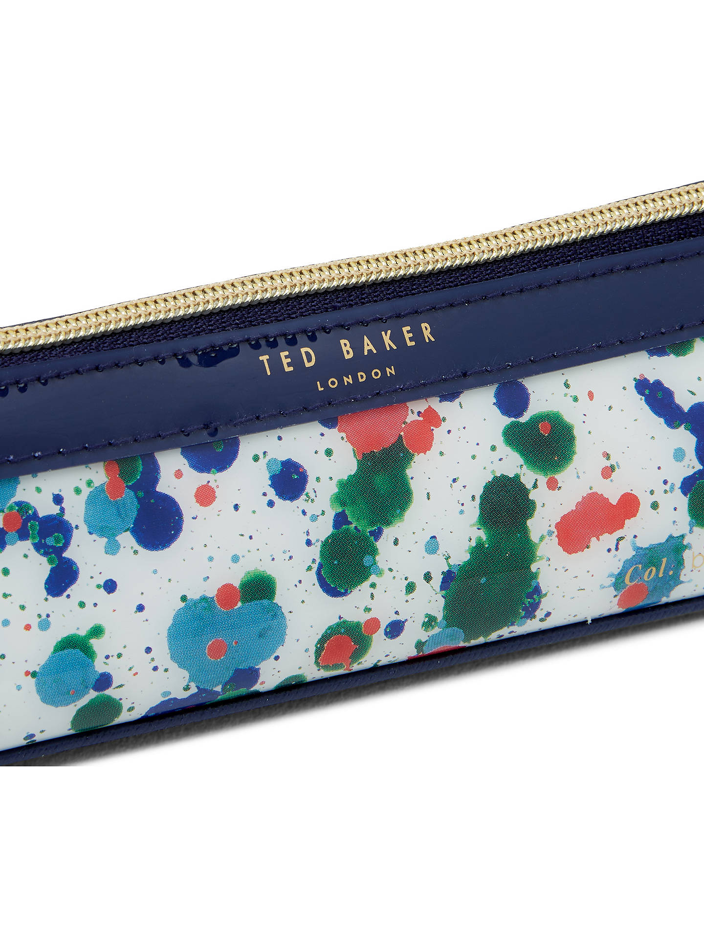 Ted Baker Colour By Numbers Poni Paint Splash Pencil Case, Ivory at ...