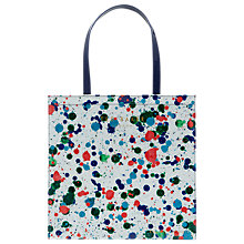 Buy Ted Baker Colour By Numbers Polaar Paint Splash Shopper Bag, Ivory Online at johnlewis.com