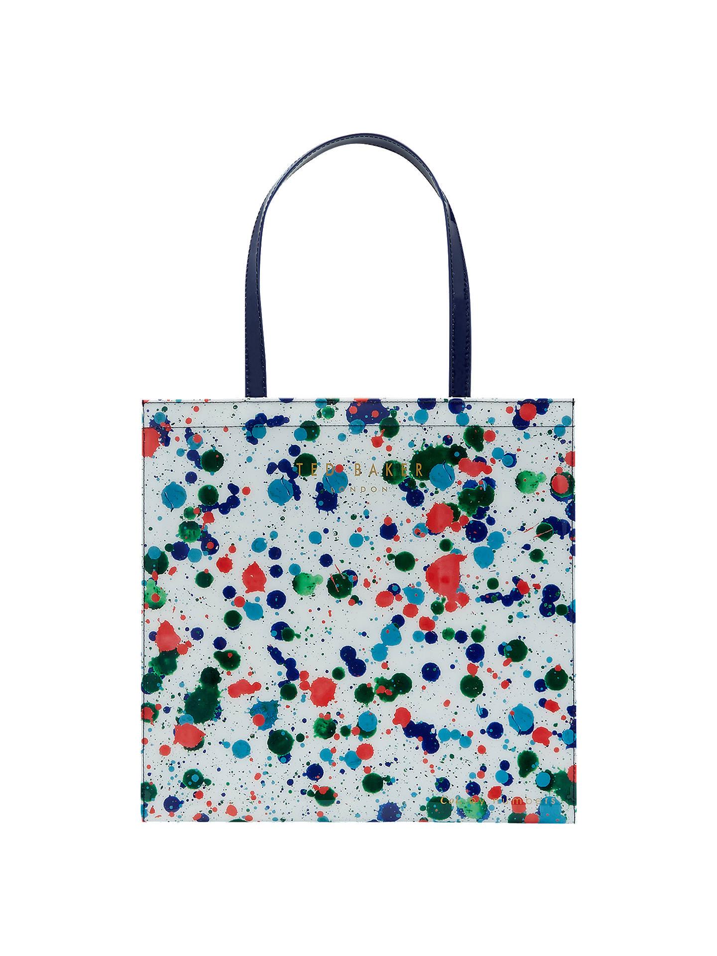 Ted Baker Colour By Numbers Polaar Paint Splash Shopper Bag, Ivory ...