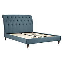 Buy John Lewis Brooke Velvet Effect Upholstered Bed Frame, Double Online at johnlewis.com