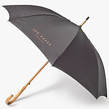Buy Ted Baker Stormer Printed Inner Umbrella, Charcoal Online at johnlewis.com
