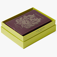 Buy Ted Baker Jettoff Leather Passport Holder, Purple Online at johnlewis.com
