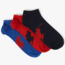 Buy Polo Ralph Lauren Trainer Liner Socks, Pack of 3, One Size, Multi Online at johnlewis.com