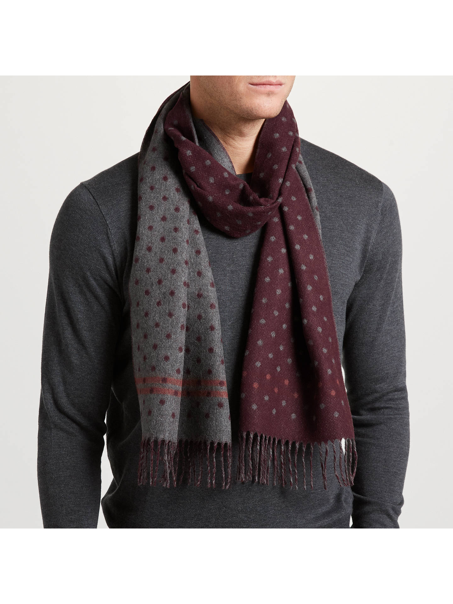 3e3d4fba7fb4 Ted Baker Redpine Spotted Scarf at John Lewis   Partners