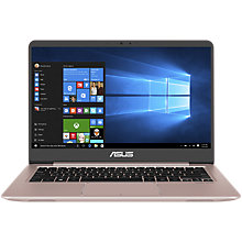"Buy ASUS ZenBook UX410 Laptop, Intel Core i5, 8GB RAM, 256GB SSD, 14"" Online at johnlewis.com"