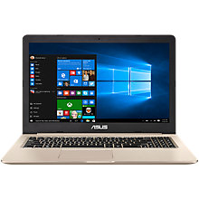 "Buy ASUS VivoBook Pro N580 Laptop, Intel Core i7, 8GB RAM, 1TB HDD + 128GB SSD, 15.6"" Full HD, Metallic Online at johnlewis.com"