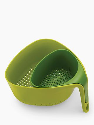 Joseph Joseph Square Nest Colanders, Set of 2, Green