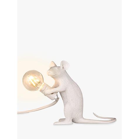 buy seletti sitting mouse table lamp white john lewis. Black Bedroom Furniture Sets. Home Design Ideas