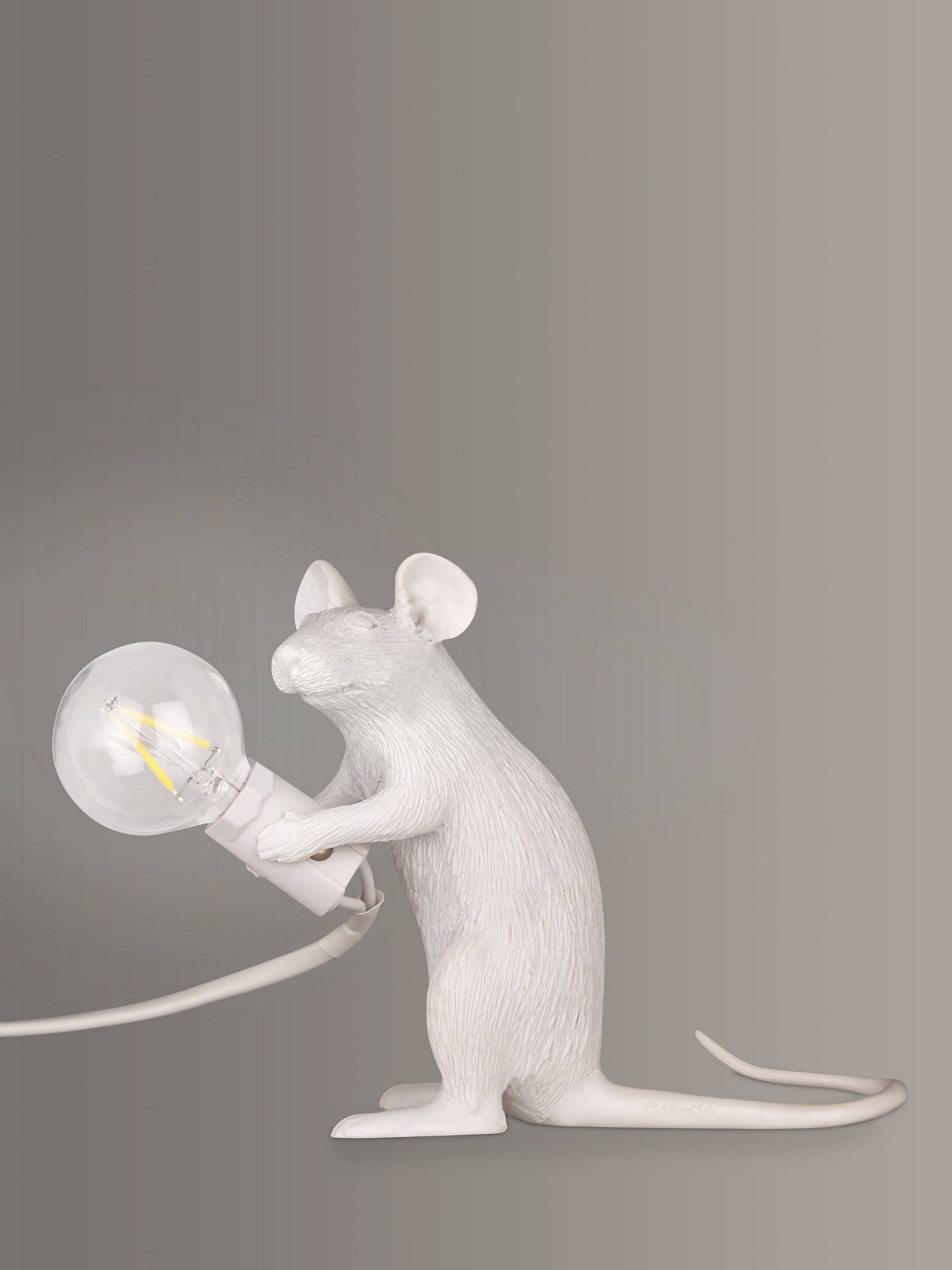 BuySeletti Sitting Mouse Table Lamp, White Online at johnlewis.com