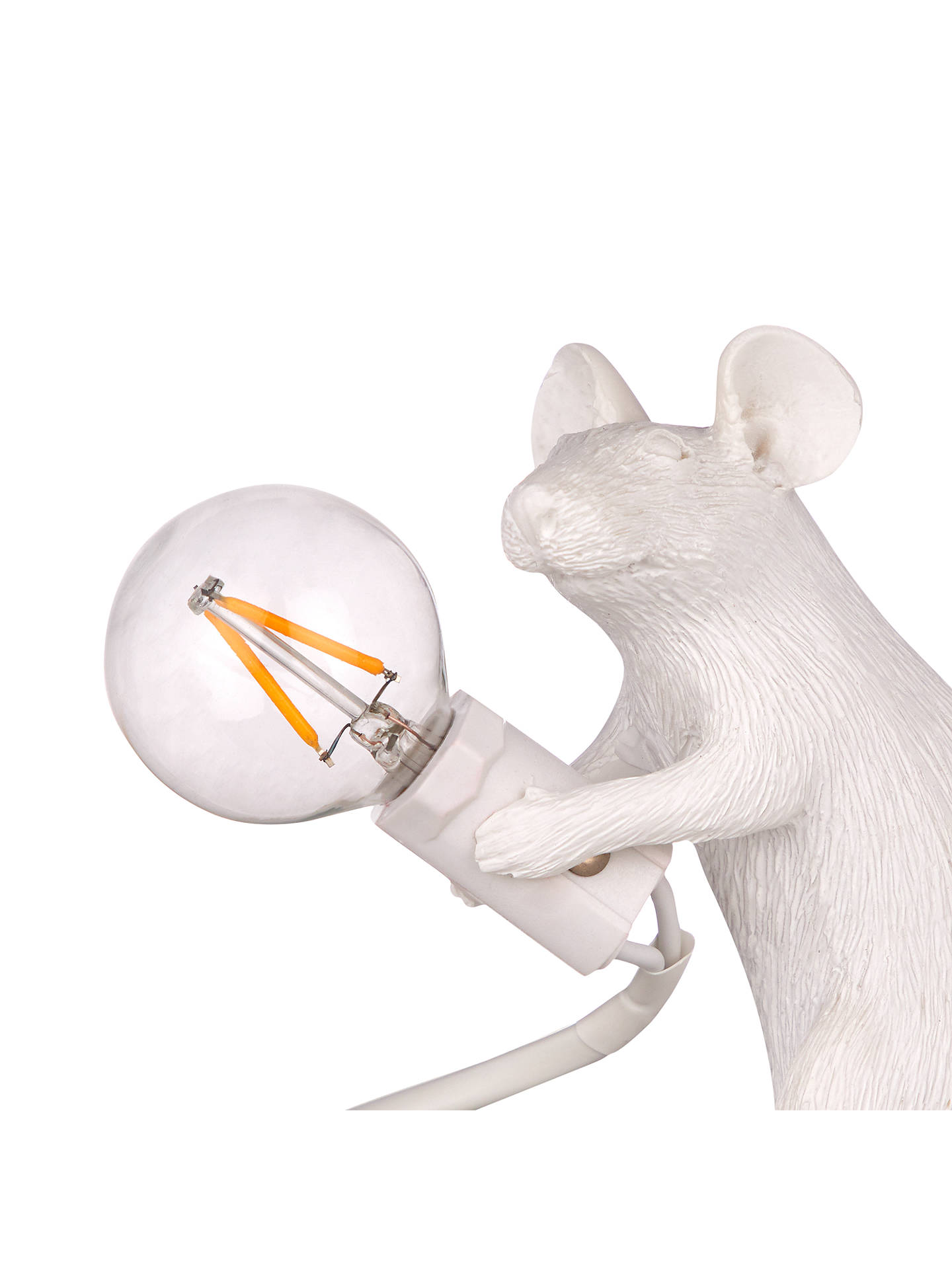 Seletti Sitting Mouse Table Lamp, White